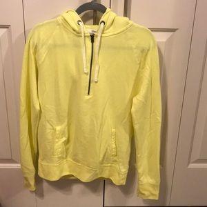 Aeropostal Neon Yellow Hooded Half Zip